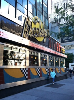 Brooklyn Diner (random  passerby in front)
