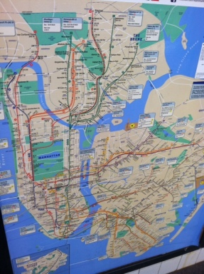 NYC Subway Map.  Oy!