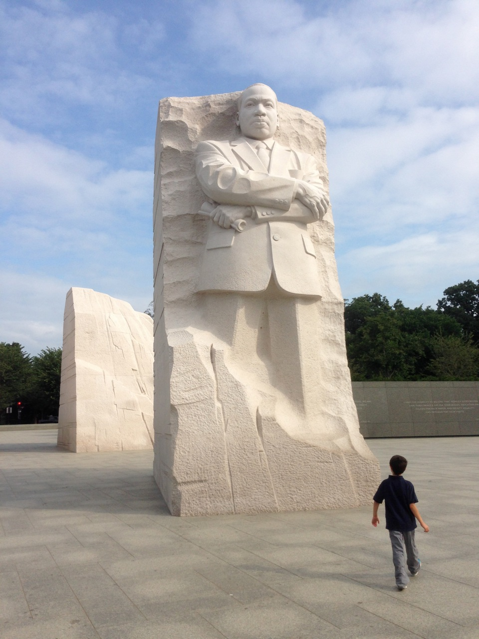 Little M. at the MLK Memorial