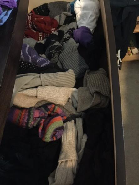 Decluttered sock drawer, decluttered life!